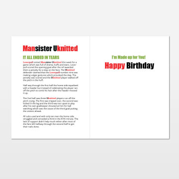 Mansister Uknitted printed birthday card (inside)