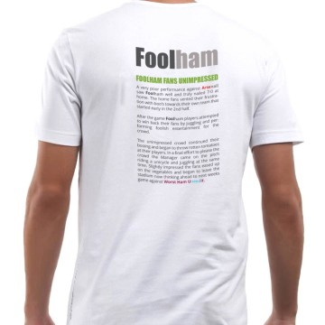 Foolham T-shirt (back)