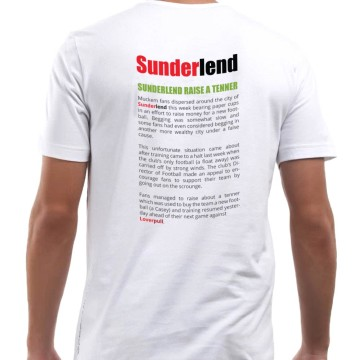Sunderlend T-shirt (back)