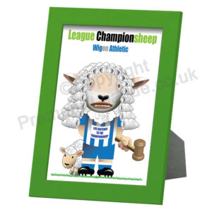 Wigon Athletic framed print 28cm x 22cm