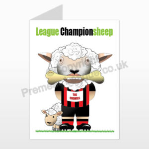 AFC Bonemouth printed birthday card (front)