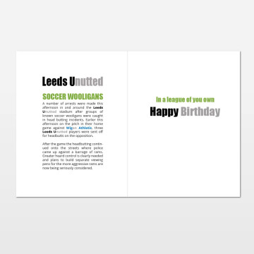Leeds Unutted printed birthday card (inside)