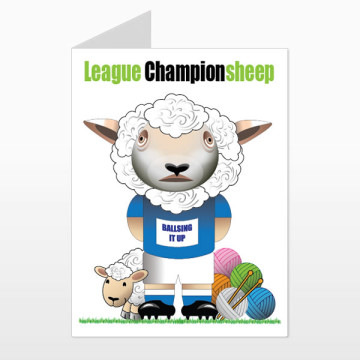 Millwool FC printed birthday card (front)