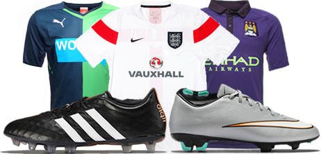 Replica shirts and football boots